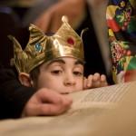 Lévi a purimkirály a Teleki téren
