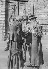 Haszid zsidók a Teleki téren a XX. század legelején