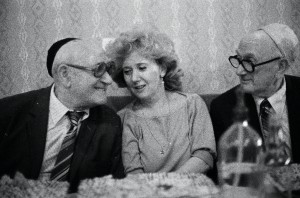 Miksa, Ági and Jakab Gláser in 1985