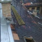 kémény a tetőről